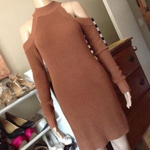 A&F sweater dress with cold shoulders like new